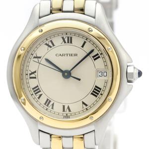 Cartier Panthere Cougar Quartz Stainless Steel,Yellow Gold (18K) Women's Dress Watch 187906