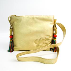 Loewe Leather Shoulder Bag Gold