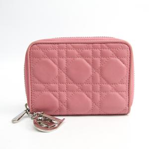 クリスチャン・ディオール(Christian Dior) カナージュ/レディ・ディオール SO124PCAL  ラムスキン 財布(二つ折り) ピンク