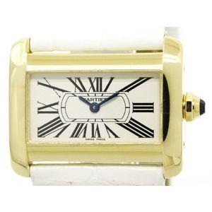 Cartier Tank Divan Quartz Yellow Gold (18K) Women's Dress Watch W6300356