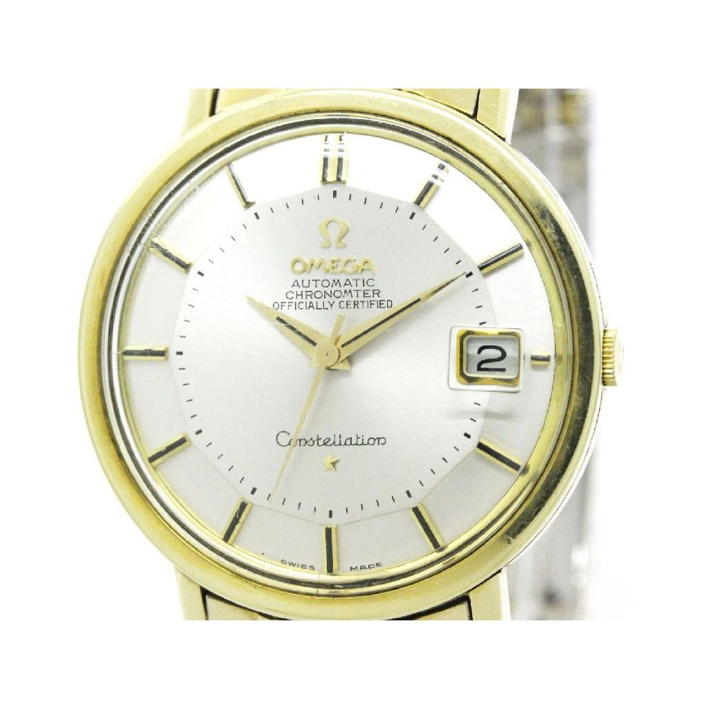 Omega Constellation Automatic Gold Plated Men's Dress Watch 168.004