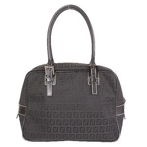 Auth Fendi Zucchino  Shoulder Bag