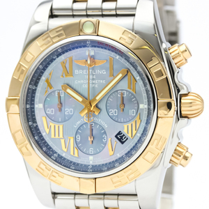 Breitling Chronomat Automatic Stainless Steel,Yellow Gold (18K) Men's Sports Watch CB0110