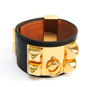 Hermes Collier De Chien Bracelet Gold,Black