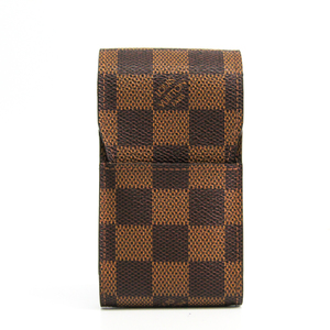 Louis Vuitton Damier Cigarette Case Damier Canvas Ebene Cigarette Case N63024