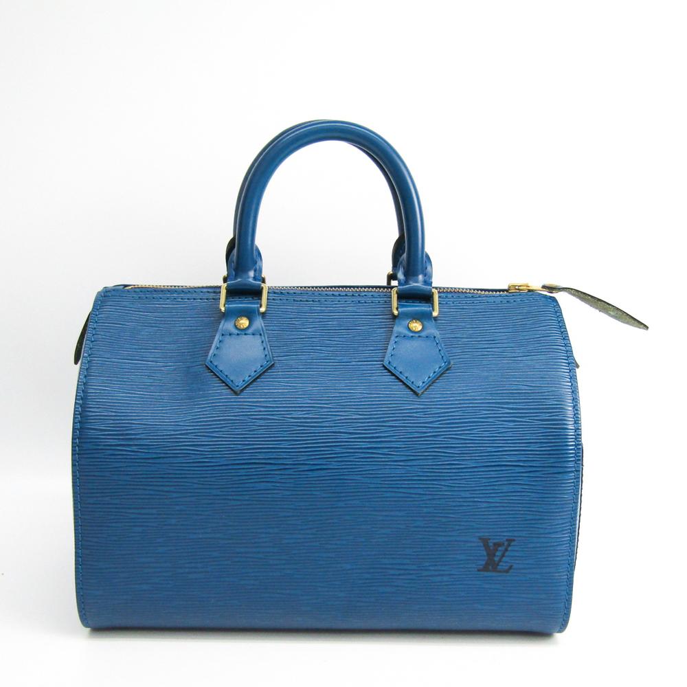 Louis Vuitton Epi Speedy 25 M43015 Women's Handbag Toledo Blue