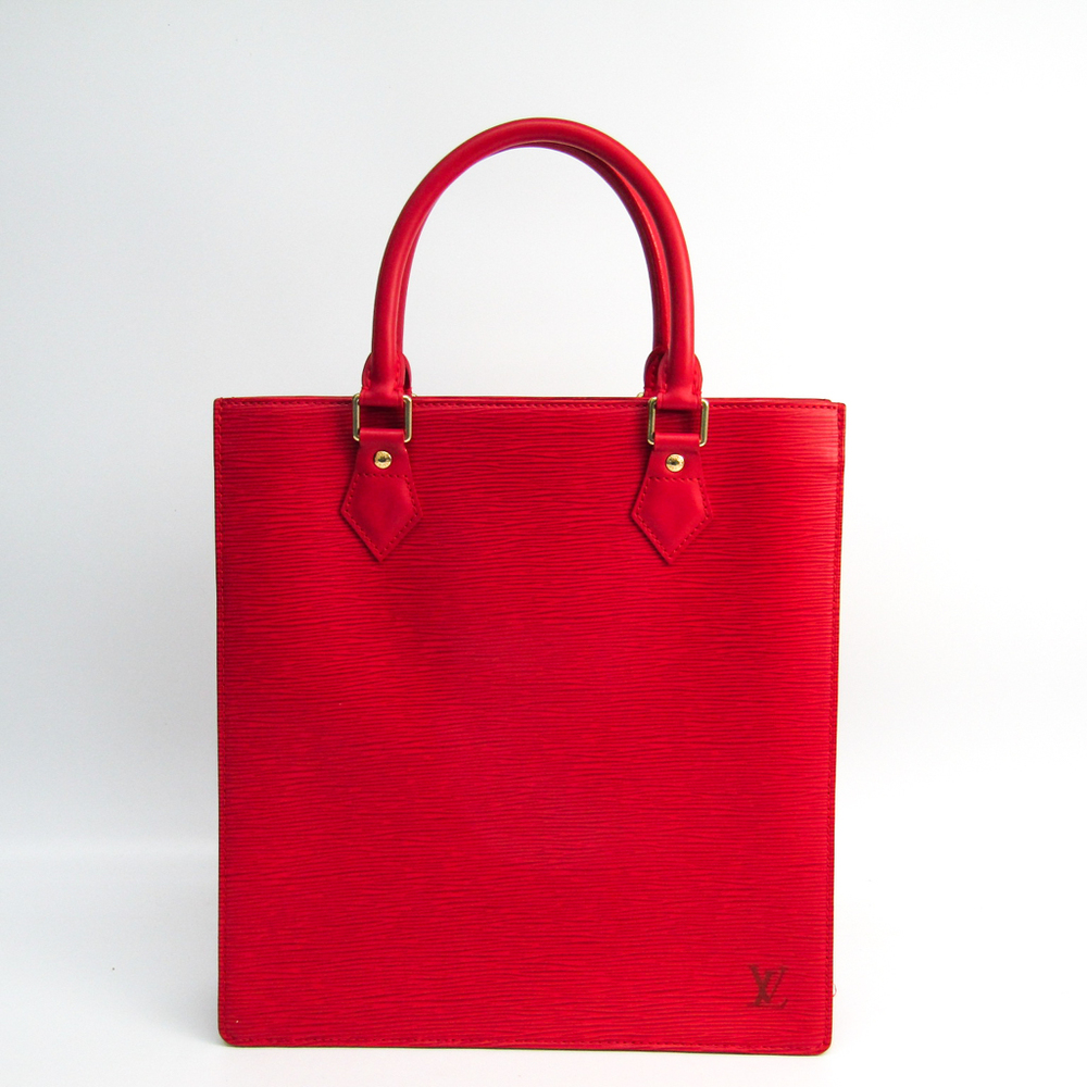Louis Vuitton Epi Sac Plat PM M5274E Women's Tote Bag Rouge