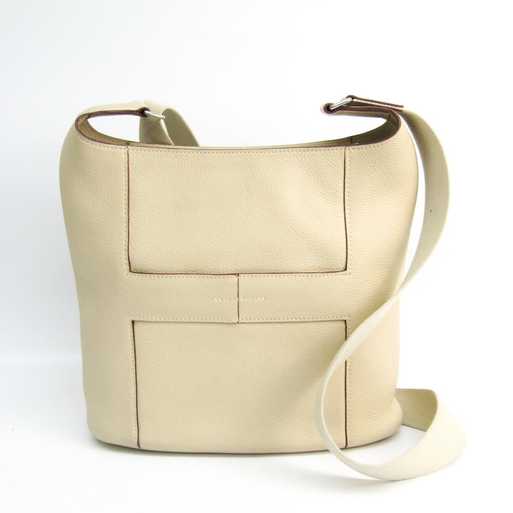 Hermes Good News Women's Taurillon Clemence Leather Shoulder Bag Beige