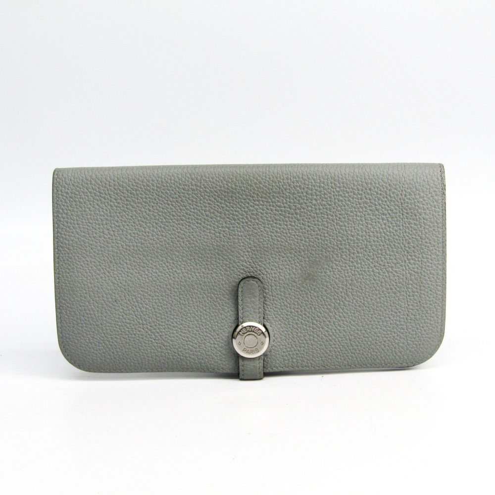エルメス(Hermes) ドゴン ロング トリヨンクレマンス 長財布(二つ折り) グレー