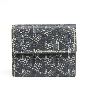 Goyard Marigny APM104 Leather,Canvas Coin Purse/coin Case Gray