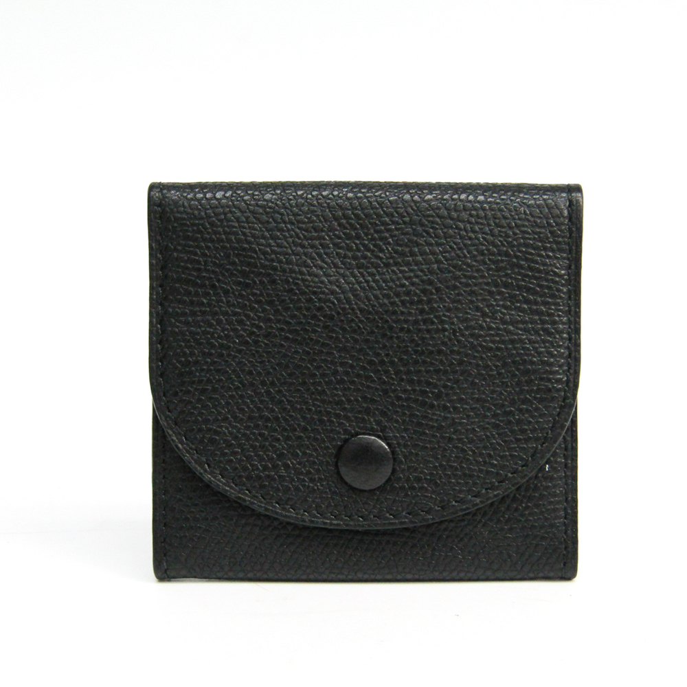 Valextra V0L90 Unisex Leather Coin Purse/coin Case Black