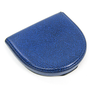 Valextra V0L89 Unisex  Embossed Leather Coin Purse/coin Case Royal Blue
