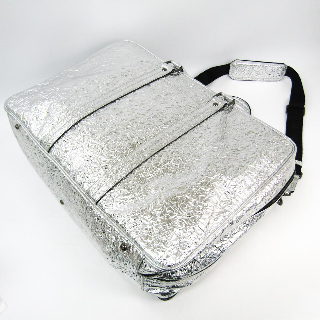 Details zu MCM Reisetasche Silber MMV4SFA055V001 BF502267