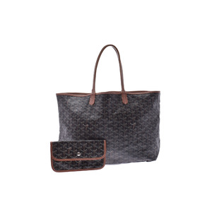 Goyard Saint Louis Leather Bag Black/Brown