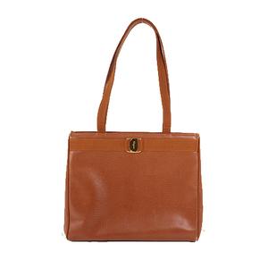 Salvatore Ferragamo Vara Totebag Women's Leather Handbag,Tote Bag Brown
