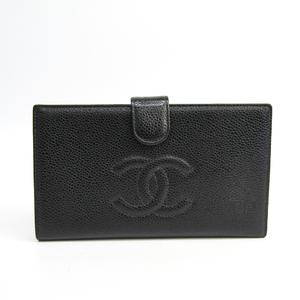 シャネル(Chanel) A13498 キャビアスキン キャビアスキン 長財布(二つ折り) ブラック