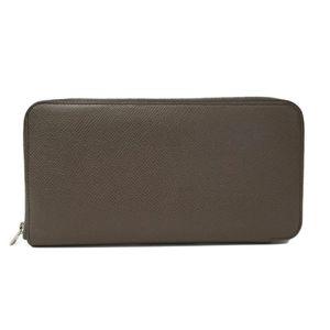 Hermes Azap Silk In Unisex Long Bill Wallet (bi-fold) Gray Brown