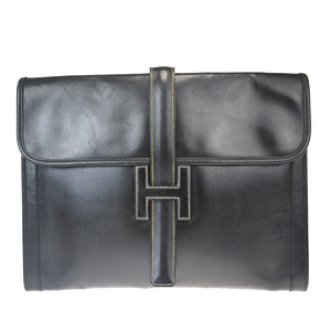 Hermes Gigi GM Leather Bag Black