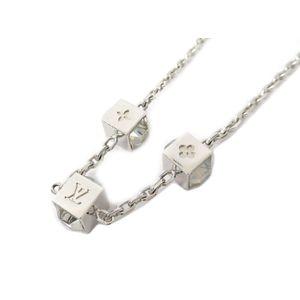 Louis Vuitton Metal Swarovski Women's Choker Necklace (Silver) M66927 Gamble Necklace