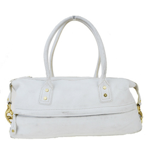 Celine Macadam Women's Leather Shoulder Bag White