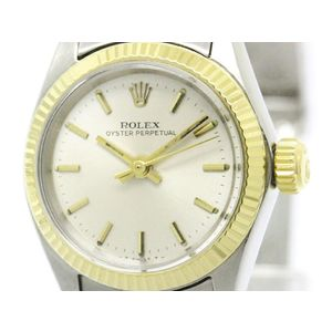 Rolex Oyster Perpetual Automatic Stainless Steel,Yellow Gold Women's Dress Watch 6619