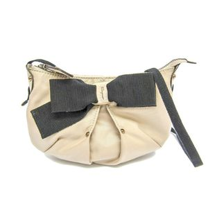 Salvatore Ferragamo 21-B670 Women's Shoulder Bag Beige,Black
