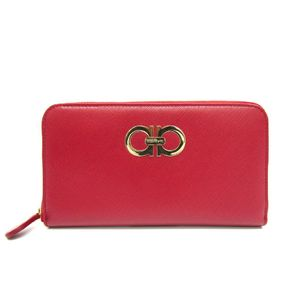 Salvatore Ferragamo Gancini 22-B300 Women's Long Wallet (bi-fold) Red