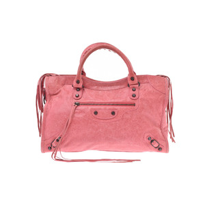 Balenciaga City Leather Bag Pink
