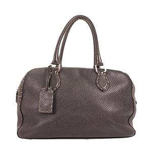 Auth Fendi Selleria  Handbag Leather