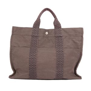 Auth Hermes Her Line Handbag,Tote Bag Gray