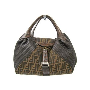 Fendi Spy 8BR511 Women's Handbag Dark Brown
