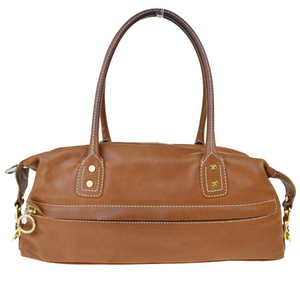 Celine Macadam Women's Leather Shoulder Bag Brown