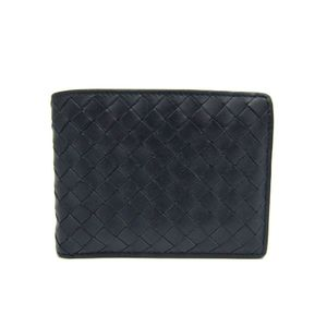 Bottega Veneta Intrecciato 113112 Men's Wallet (bi-fold) Navy