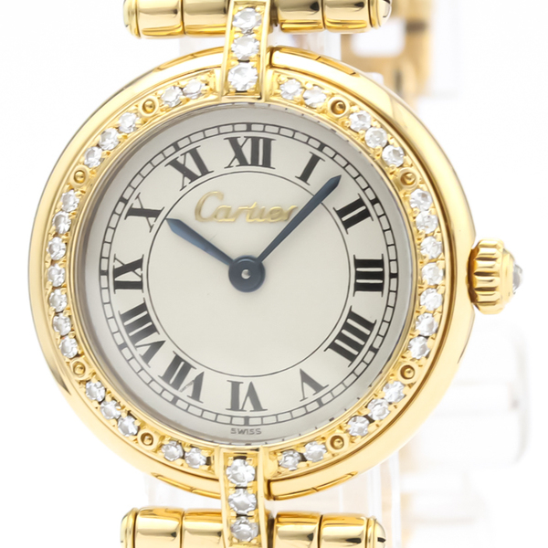 Cartier Panthere Round Quartz Yellow Gold (18K) Women's Dress Watch