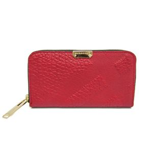 Burberry 3952056 Women's Long Bill Wallet (bi-fold) Red