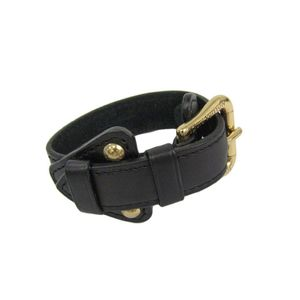 Louis Vuitton Leather Bracelet Black M92480 Theda Bracelet GM
