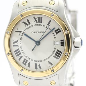 Cartier Santos Cougar Quartz Stainless Steel,Yellow Gold (18K) Women's Dress Watch