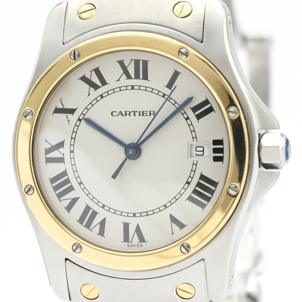 Cartier Santos Cougar Quartz Stainless Steel,Yellow Gold (18K) Women's Dress Watch