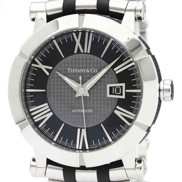 Tiffany Atlas Automatic Rubber,Stainless Steel Men's Dress Watch Z1000.70.12A10A00A