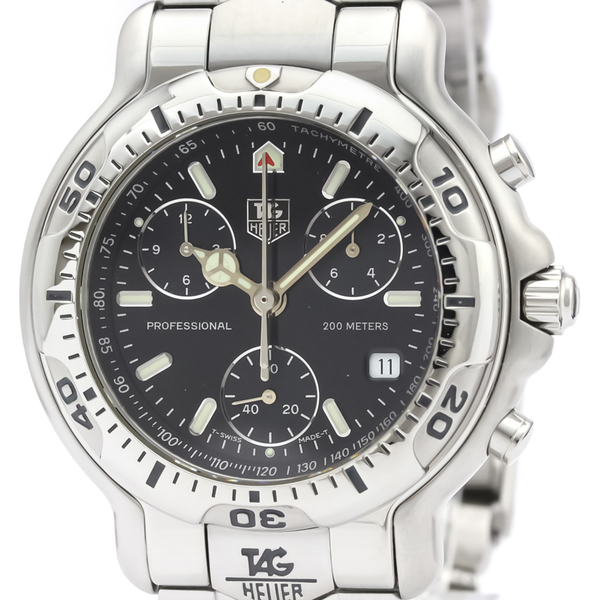 TAG HEUER 6000 Chronogragh Steel Quartz Mens Watch CH1113
