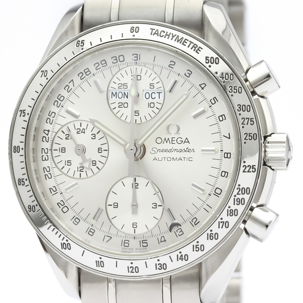 OMEGA Speedmaster Triple Date Steel Automatic Watch 3523.30