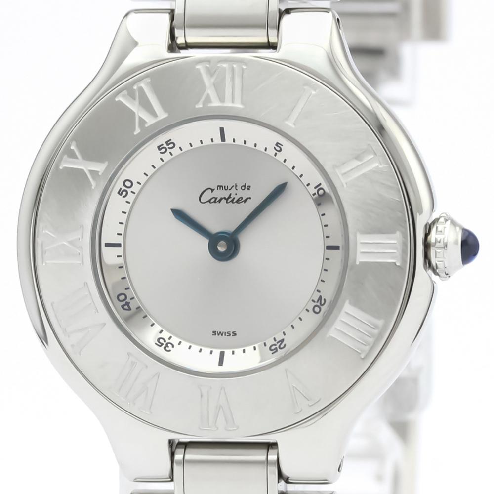 【CARTIER】カルティエ マスト21 ステンレススチール クォーツ レディース 時計 W10109T2