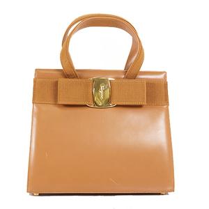 Salvatore Ferragamo Vara Hand Bag Women's Leather Handbag Brown