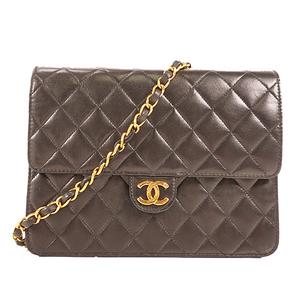 Chanel Matelasse Single Chain Women's Leather Shoulder Bag Black