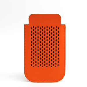 Hermes Swift Leather Phone Pouch/sleeve For IPhone 6 Orange