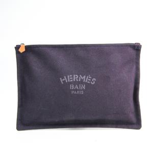 Hermes Yachting Flat Pouch GM Unisex Cotton Pouch Purple
