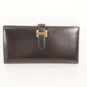 Auth Hermes Bearn Bareanshure Long Wallet
