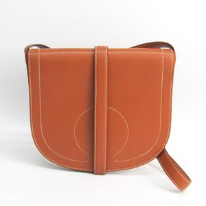 Hermes Women's Box Calf Leather Shoulder Bag Brown