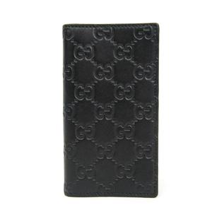 グッチ(Gucci) グッチッシマ 481724 レザー 手帳型/カード入れ付きケース iPhone 7 対応 ブラック