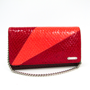Celine  Coated Leather Long Wallet (tri-fold) Bordeaux,Red